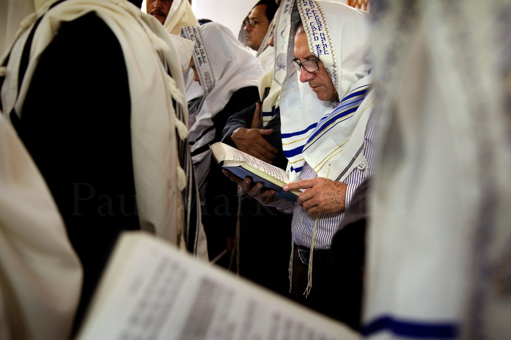 Evangelical Christian converts to Judaism in a synagogue in Bello, Colombia